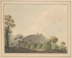 View of Karkala with statue of Gommatesvara. May 1806